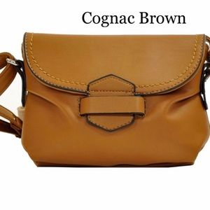 Handbags - Brown Soft Faux Leather  Crossbody
